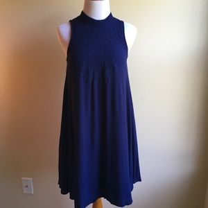NWOT Sugarlips Navy Sleeveless Trapeze Dress